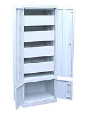 Шкаф металлический картотечный ШК-4-Д4 купить на выгодных условиях в Калуге