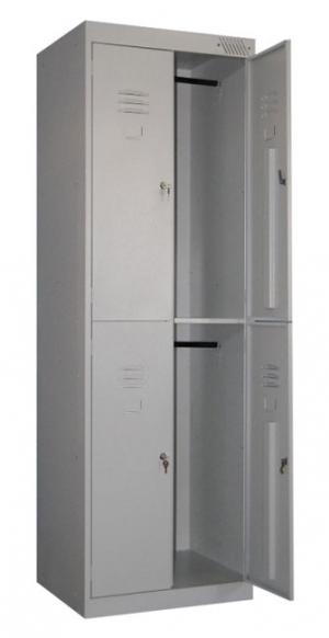 Шкаф металлический для одежды ШРK-24-600 купить на выгодных условиях в Калуге