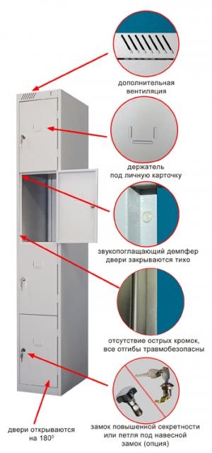Шкаф металлический для сумок ШРС-14-300 купить на выгодных условиях в Калуге