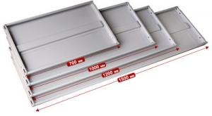 Полка 120/50 для стеллажа архивного металлического купить на выгодных условиях в Калуге
